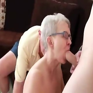 Really Old Lady Fucked by Her Husband and a Young ...