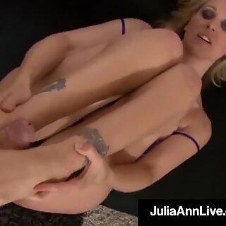 Smoking Hot Mommy Julia Ann Gives A POV BlowJob & FootJob!