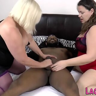 Chubby old lady fucked in threeway