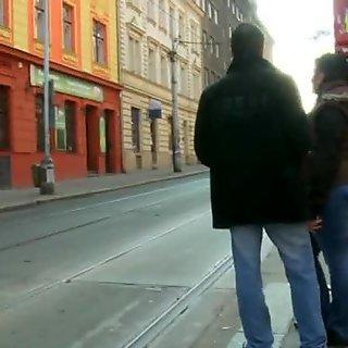 Skinny teen girlfriend fucking a total stranger for cash