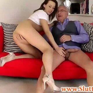 British slut fingered by old sir