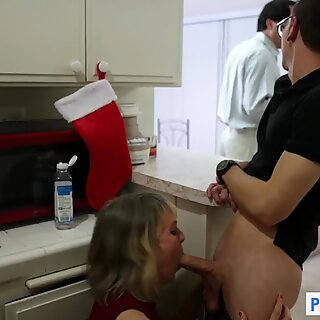 My stepmom has her way while dad's away-xmas special
