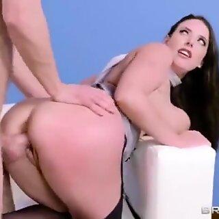Hutsut - Angela White - Valtava cupcakes töissä! repiä hänen pomo
