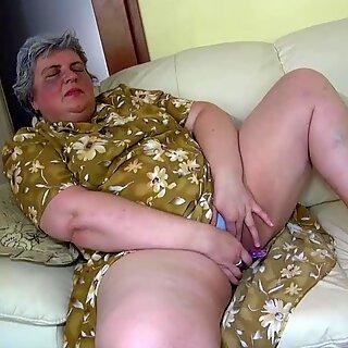 OldNanny Pretty girl and fat granny masturbating
