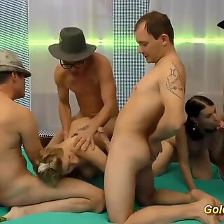 deepthroat and dp gangbang orgy