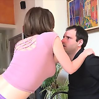 Krissy Lynn fucks hard in front of her husband.