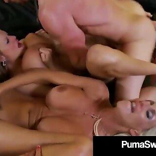 Hot Prsnaté blondínky puma Swede & Kelly Madison sať Manžel Off