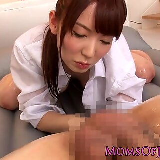 asian milf loves slime screw and oral job