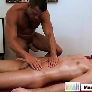 Steel Cock Oil Massage
