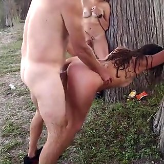 Friends watched me fucking a girl by the lake