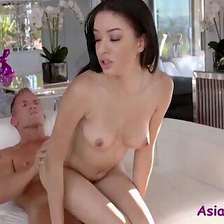 Skinny Brunette Asian Teen fucks White Old Man- Scarlett Bloom