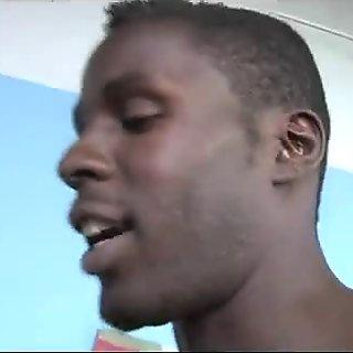 Cum eating cuckold cleans up huge black cum load