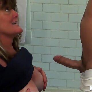 immense natural tits MILF bts