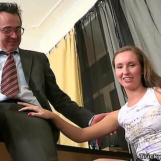 Mature teachers are getting irrumation from babe