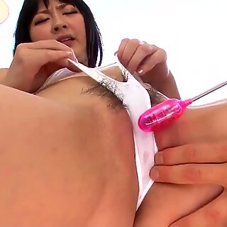 Megumi Haruka feels the dildo roughly fucking her cunt - More at Pissjp.com