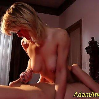 Blondie with pierced nips