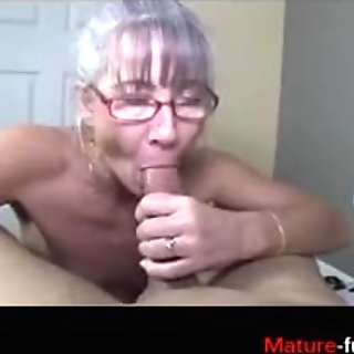 Slim granny still cant get dick out of her mind