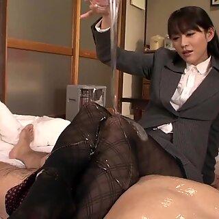Shou Nishino saippua Superb Woman Sukkahousut perse piiska ru nume