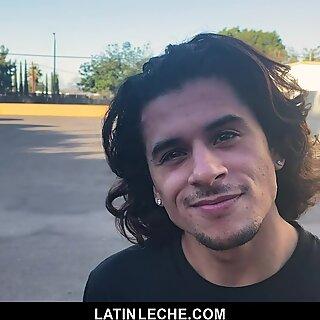 LatinLeche - Cute Latino Boy Sucks An Uncut Cock
