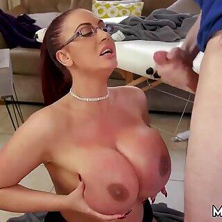 Mature brunette teacher and amateur milf masturbation Big Tit Step-Mom Gets a Massage
