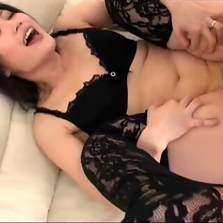 Old Japanese man premature cum in mommy