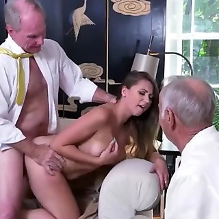 Old man cuckold Ivy impresses with her yamsized brastuffers and ass
