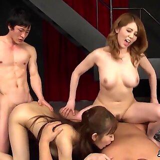 Japanese housewife, Maki Koizumi is orgying, uncensored