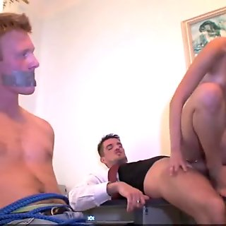 Punished with girlfriend fuck