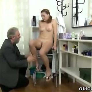 Sveta and her lover bring an older friend who loves younger women into their play