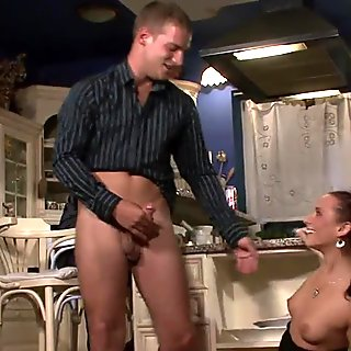 Old man ask him fuck his young wife