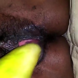 wife's cucumber pussy plug