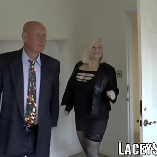 LACEYSTARR - Mature English babe fucked and facialized
