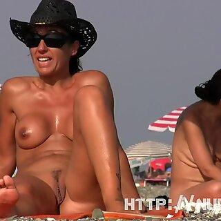Seksikäs Nudisti Ranta Spy Lihavua Tussu Crotch Shot