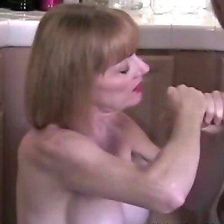 Mom Jerks Off Horny Son