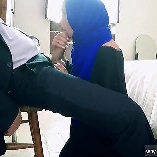 Arab milf sucking boss dick