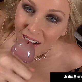 Busty US Milf Julia Ann Mouth Fucks A Hard Cock POV!