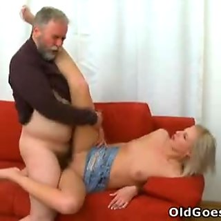 Sasha gets her pussy well and truly fucked hard by this old