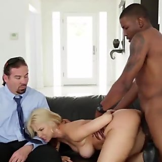 Interracially fucked milf in cuckold action