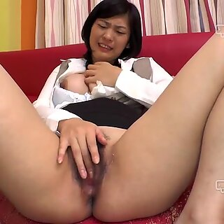 big-chested Office nymph Nami Mogami Gets unshaved Pussy Fucked (Uncensored)