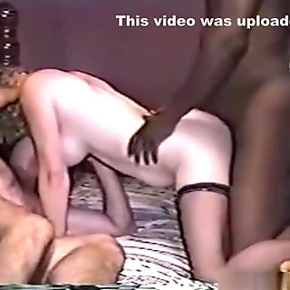 Cuckold mature couple has a threesome with a black guy