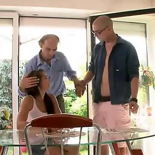 A guy is invited to bang old's man sexy wife