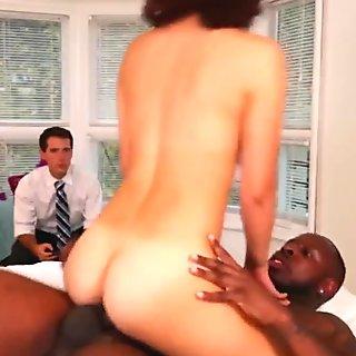 Monster black dick slides deep in Izzy Bell's tiny pussy