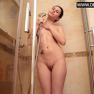 Real virgin Ava Gardon new video in the shower
