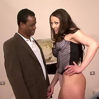 Horny wife gets anal by black guy