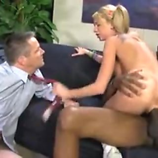 Cuckold clean off the black jizz from wife s ass