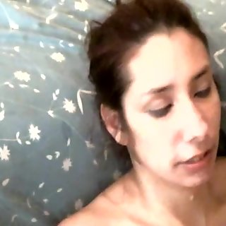Slut Latina Wife With Cum All Over Her Face