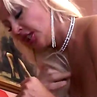 Ultra busty milf loves to swallow her lover's jizz