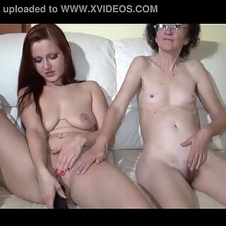 Young Girl fuck very old Granny