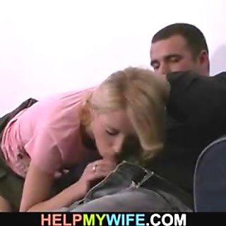 Stranger fucks his sexy wife for money
