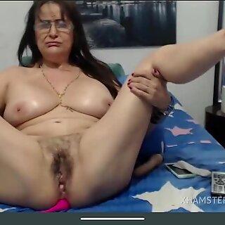 Granny hairy squirt masturbation